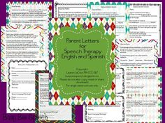 Busy Bee Speech: Parent Letters for Speech Therapy in English & SPANISH + {GIVEAWAY}! $