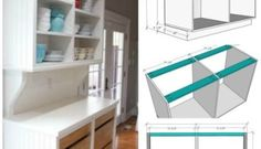 Plans for China Cabinet Base - Sawdust Girl® Woodworking For Dummies, Woodworking Square, Woodworking Tools For Sale, Woodworking Shop Layout, Woodworking Apron, Woodworking Projects For Kids, Woodworking Plans, Woodworking Jointer, Youtube Woodworking