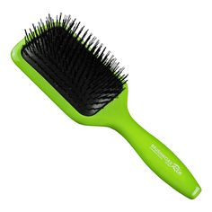Brushworx Rio Paddle Hair Brush Green | RRP $20.95