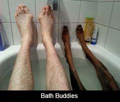 Bath buddies..this is weird haha