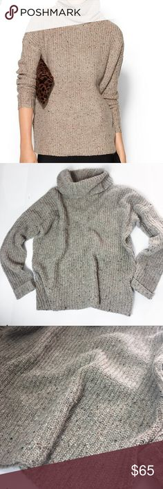 Soft Joie Lynfall Camel Tan Turtleneck Sweater Size small good pre owned condition- no holes, stains, markings. Make great strides at the office in an wear-with-all, tweed sweater from Soft Joie that work as hard as you do.  Turtleneck, long sleeves, ribbed, pullover style Acrylic/polyester/cotton/nylon/wool Hand wash Imported Soft Joie Sweaters Cowl & Turtlenecks