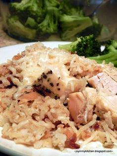 Crockpot Parmesan Garlic Chicken with Brown Rice