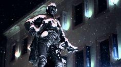 Šumperk at snowing night