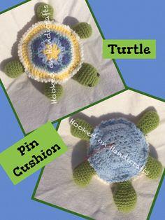 Handmade crochet African Flower Pin Cushion Facebook/Hookedonhandicrafts