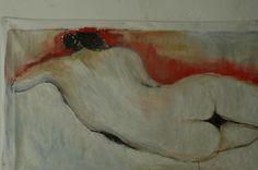 Donna di schiena. Particolare.  Dipinto di Rita Pedullà