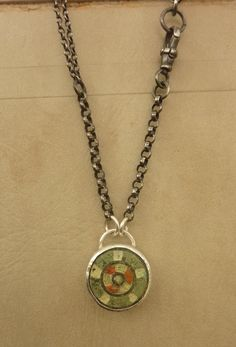 Ancient Byzantine pendant  Antique  Appliqué necklace by anakim, $243.00