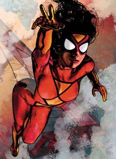 Spider Woman artwork by Alex Maleev