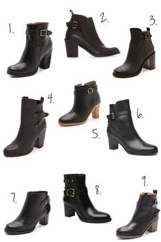 seraching for the perfect pair of black buckle booties