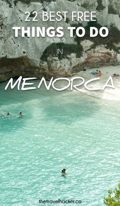 22 Free Things to Do in Menorca Ibiza, Honeymoon Places, Honeymoon Destinations, Oh The Places You'll Go, Places To Visit, Bahamas House, European Honeymoons, Holiday Places, Balearic Islands