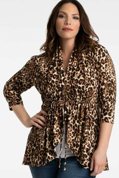 f335a2788b3b Leopard print is big this spring! Shop our plus size Lori Printed Bellini  in this