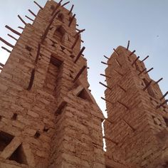 Minarets of Bani's (Burkina Faso) central mosque. Photo: Isabelle Mayault