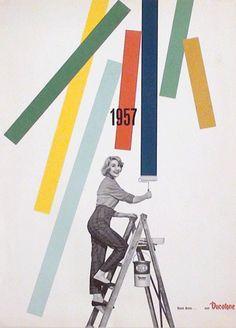 AIAP - Franco Grignani - Pagina pubblicitaria - Ducotone 1957.