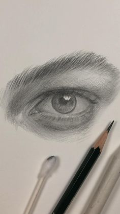 Eye Drawing by Nadia Coolrista - Art Sketches Art Drawings Sketches Simple, Pencil Art Drawings, Realistic Drawings, Drawing Faces, Cool Drawings, Realistic Eye Sketch, Side Face Drawing, Pencil Portrait Drawing, Eye Drawings
