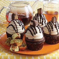 Peanut Butter Cup Cupcakes from @dreamcakesbham from MyRecipes.com