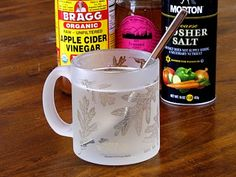 homemade vinegar & honey sore throat and cold remedy