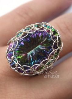 Netted Bezel Ring - Jewelry Tutorial,  Jewelry, ring  tutorial