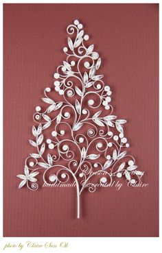 Quilled Christmas tree - inspiration only - bjl