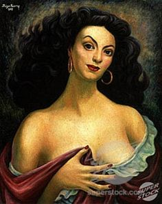 Linea Suave-Recta Maria Felix by Diego Rivera