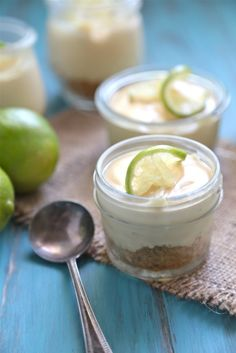 No Bake Key Lime Pies - Mini No Bake Pies that perfect easy summer get together! - www.countrycleaver.com @CountryCleaver
