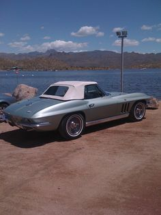 1966 Corvette convertible...Mossport green :)