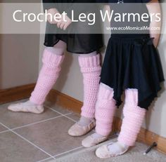 Homemade: Crochet Leg Warmers @ecomomicalme.com These are so easy and a great project for a newbie!