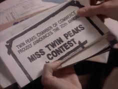 //this would be a really fun / relatively easy invitation to a Twin Peaks party
