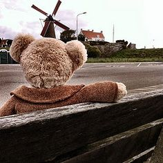 Bear discovering Holland : our new Bear that didn't like the rain, plays the piano, likes windmills, learns about the French Napoleon and again wants to sail to France!