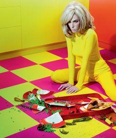 """Miles Aldridge. """"Home Chic"""". 2011. (Ruby Aldridge, Vogue Italia)."""