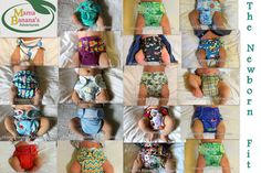 Mama Banana's Adventures: The Great Newborn Cloth Diaper Fit Review Clothdiapering a Big Newborn