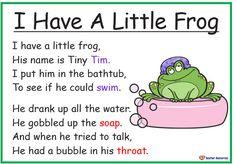 I Have A Little Frog Poem