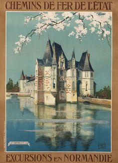 """Excursions en Normandie - Chemin de Fer de l'Etat by Hallo (""""Alo""""), Charles"""