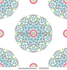 Vintage universal different seamless eastern patterns (tiling). Endless texture can be used for wallpaper, pattern fill, web page background, surface textures clothes. Retro geometric ornament. - stock photo