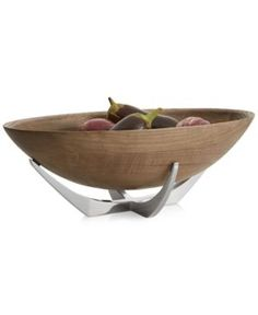 Nambe Cabo Collection Oval Serving Bowl - Brown