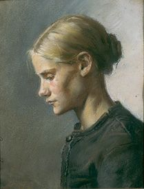 """A young girl"" Anna Ancher (1859 - 1935)"