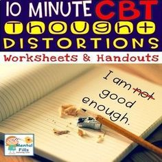 Take ten minutes a day to practice Cognitive Behavioral Therapy (CBT) strategies, and dispute negative thinking patterns and thought distortions to manage anger, anxiety, and depression. Product includes: 1 CBT model handout and worksheet. 1 Physiological Signs of feelings handout and worksheet. 4 Feelings ingredients handouts and worksheets for