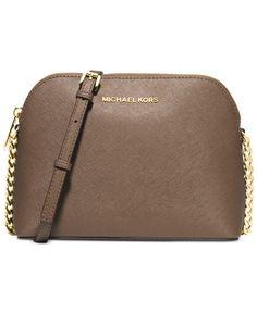Michael Kors Cindy Saffiano Dome Crossbody Handbags   Accessories - Macy s 913fae04d53