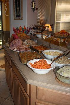 Thanksgiving Dinner Menu and Spread