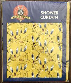 Tweety Bird Vinyl Shower Curtain JAY FRANCO Looney Tunes Warner Bros 1999