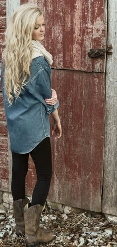 blue jean button up shirt