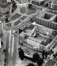 Ein Blick auf den Aegi: Links die Georgstrasse, rechts oben das Theater | Quelle: Wilhelm Hauschild