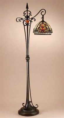 Dale Tiffany TF101115 Antiques Roadshow/Boehme Armed Floor Lamp This Dale Tiffany product is available in an antique golden sand finish. Illuminated by