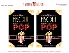"""Star is Born Hollywood Baby Shower Theme - Free Printables // HWTM free printables by HWTM - """"A Star is Born"""" Hollywood Baby Showerfree printables by HWTM - """"A Star is Born"""" Hollywood Baby Shower Baby Shower Parties, Baby Shower Themes, Baby Showers, Shower Ideas, Baby Shower Printables, Free Printables, Hollywood Theme, Movie Themes, Themes Free"""