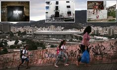 Rio Olympics overshadows Brazil's favelas which sit just metres from stadium | Daily Mail Online