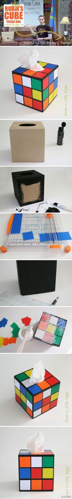 rubiks cubes, rubiks cube craft, cube tissu, boy bedrooms, tissue boxes, tissue box covers, rubik cube, tissu box, match box diy
