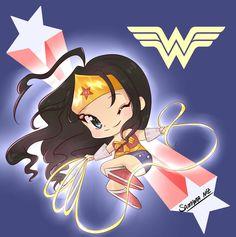 nuevos chibis que hago para los eventos de anime.Wander Woman - Wander Woman