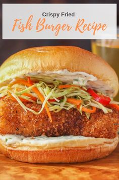 I've tried this Fish Recipes … and the result is awesome! | Fish Recipes, Fish, Fish Recipe Healthy, Fish Recipe Salmon, Fish Recipe Tilapia, Fish Recipe Baked, Keto Fish Recipe, Fried Fish Recipe Fried Burgers Recipe, Fried Fish Recipes, Easy Fish Recipes, Burger Recipes, Salmon Recipes, Healthy Recipes, Fish Burger, Tilapia, Pulled Pork