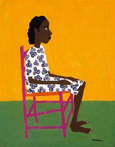 Little Sweet - William H. Johnson William H Johnson, Henry Johnson, African American Artist, American Artists, African Art, Art Brut, Black Artists, Black Women Art, Naive Art