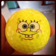 Spongebob golf ball