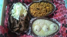 Ovo de banana com granola, ovo de leite ninho com nutella e ovo de prestígio, delícias pra Páscoa.