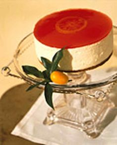 Blood Orange Cheesecake | Martha Stewart Living -  Ricotta cheese makes this lighter and less rich than a standard cheesecake.